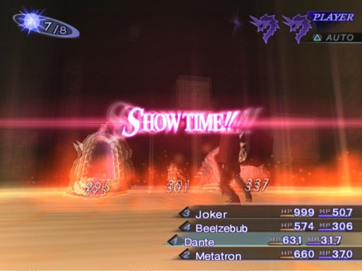 """Dante performing helmet breaker and """"Showtime!!"""" appears on screen like Devil May Cry 2."""