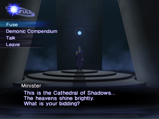 Cathedral of Shadows allows you to fuse your demons.
