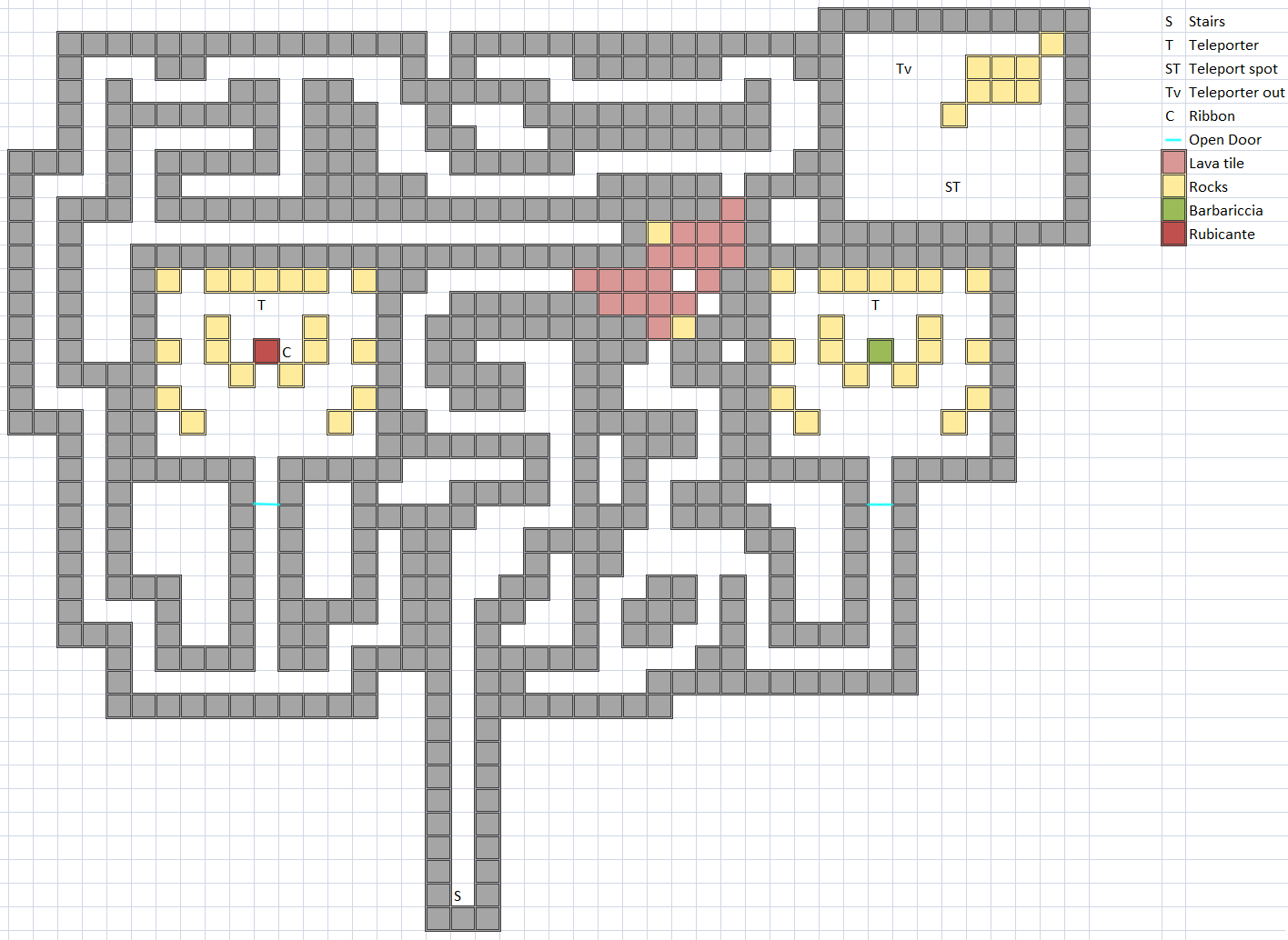 Boss Room of Hellfire Chasm 10F Map