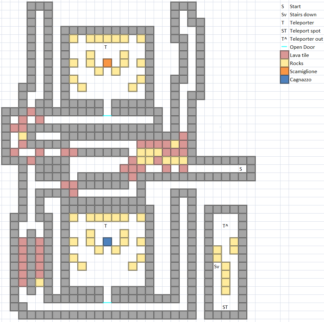 Boss Room of Hellfire Chasm 5F Map