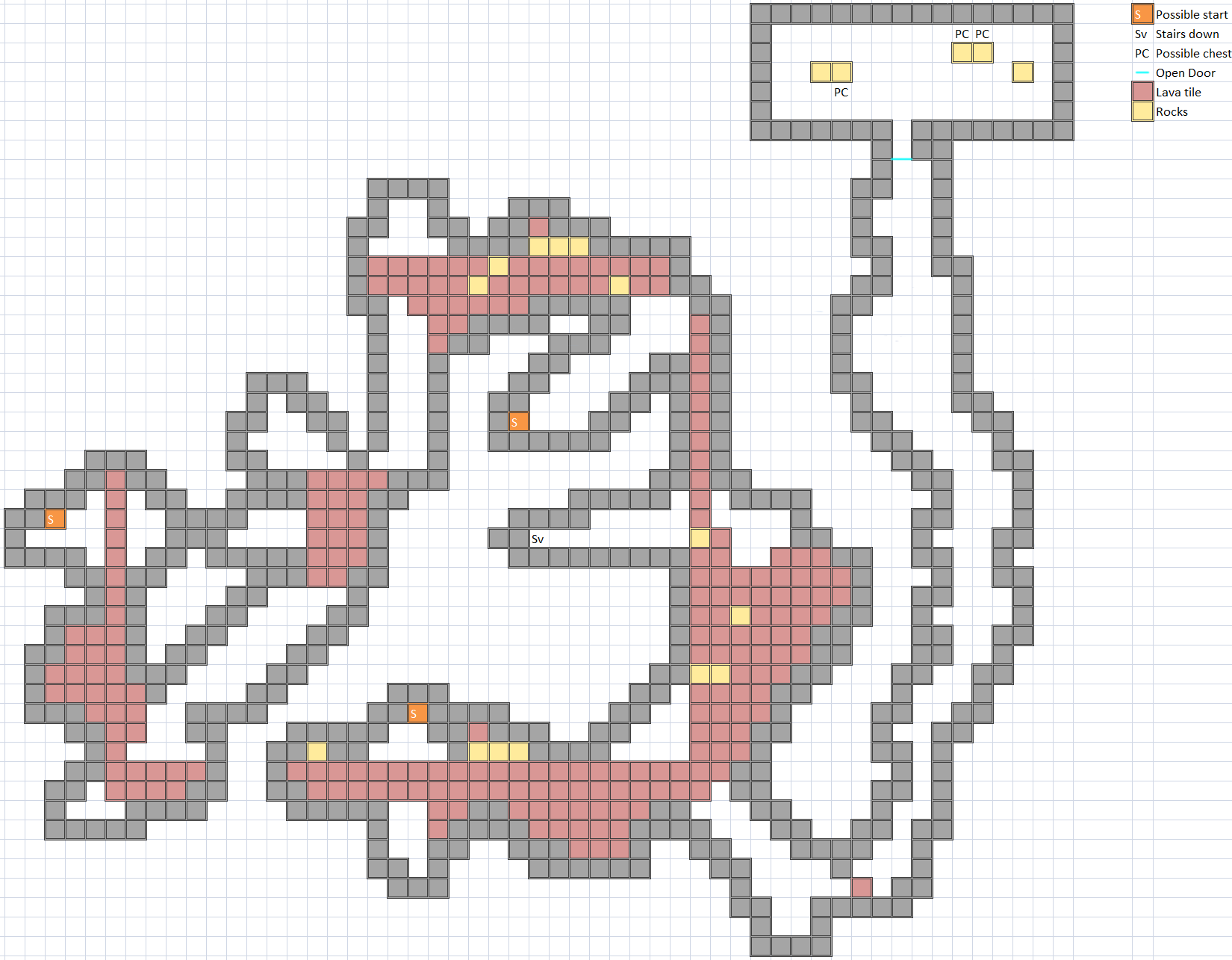 Zigzag Lavaway Map