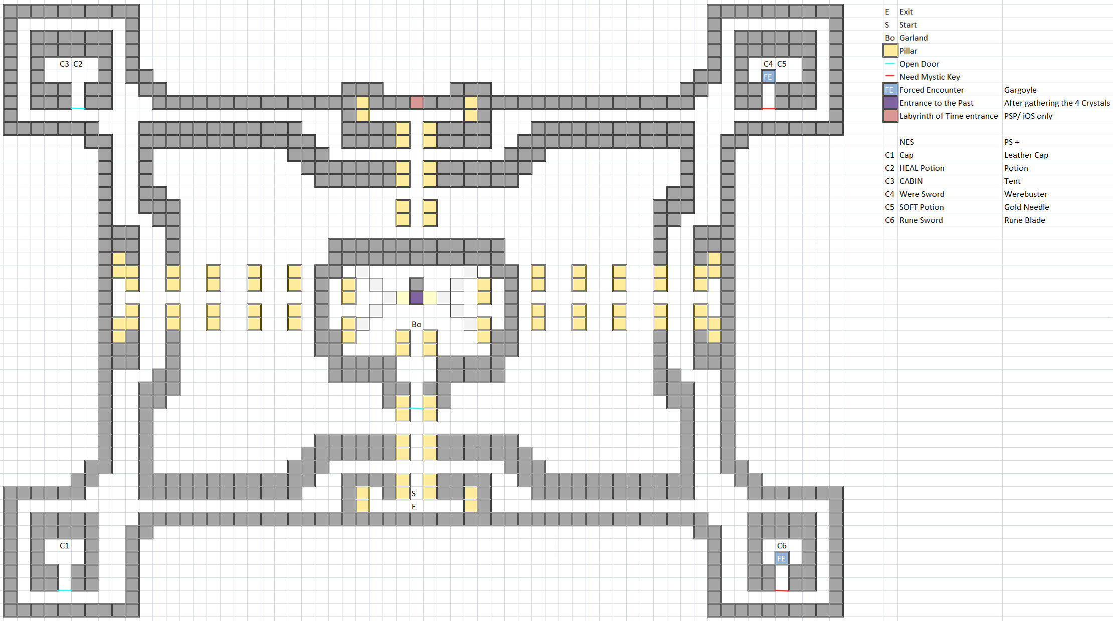 Temple of Fiends / Chaos Shrine Map