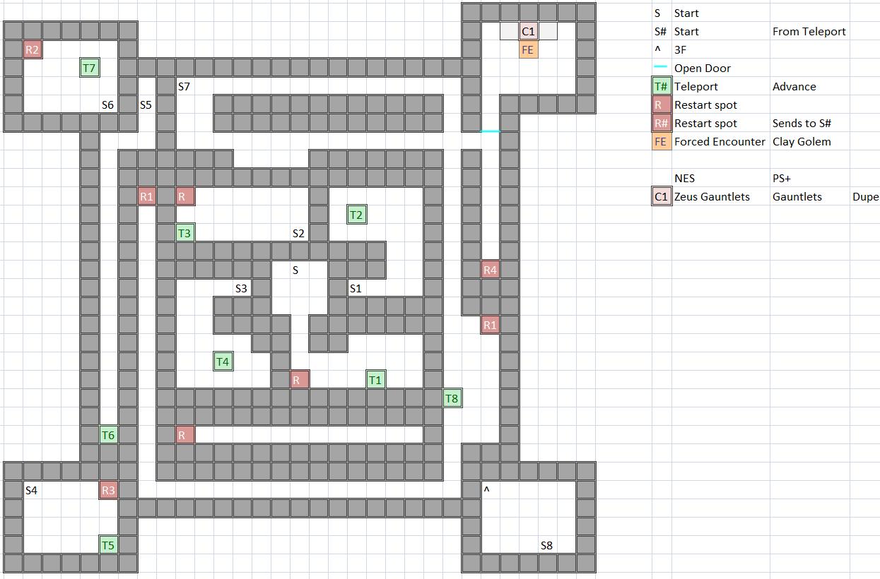 Castle of Ordeals / Citadel of Trials 2F Map