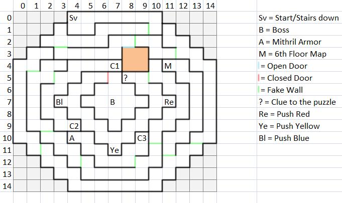 Floor 6 Map