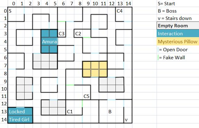 Dungeon Floor 1 Map
