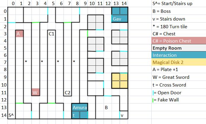 Dungeon Floor 4 Map