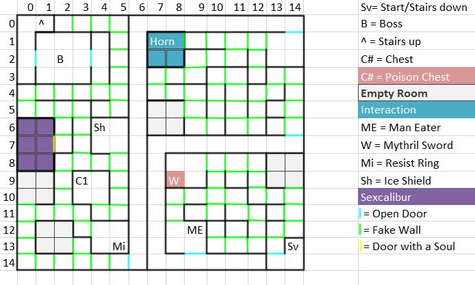 Dungeon Floor 7 Map