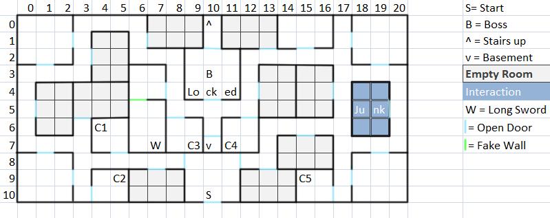 Mansion Floor 1 Map
