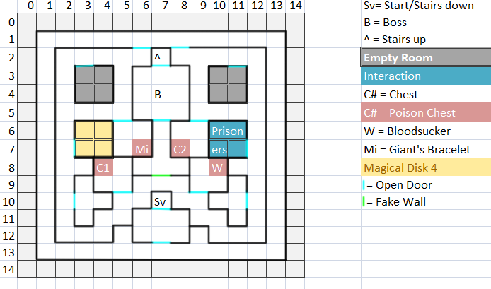 Temple Floor 2 Map