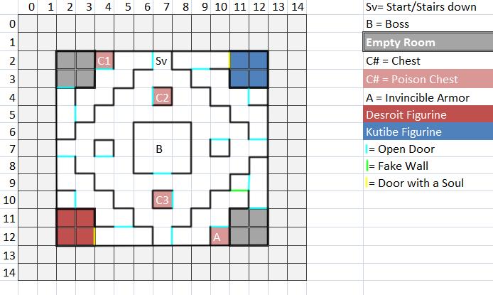 Temple Floor 3 Map