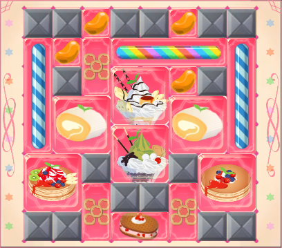 Recommended arrangement for Cery and Popple's Candy Box